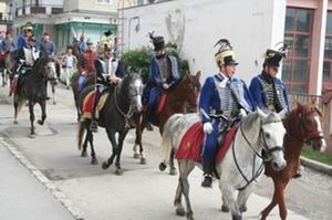 Bevonultak Barótra a huszárok. A szerző felvétele