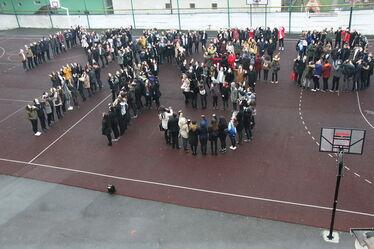 Villámcsődület az iskola udvarán. Fotók: Albert Levente
